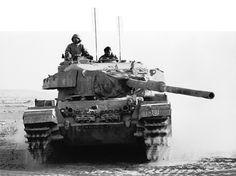 An Israeli Centurion tank operating in the Sinai.