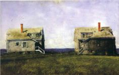 Twin Houses - Jamie Wyeth