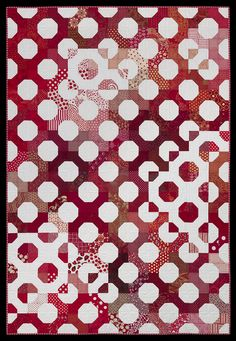 """""""My Red and White: This is 40"""" quilt by Timna Tarr"""