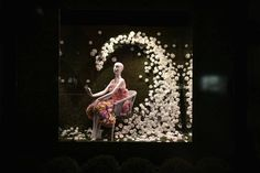 "From a Guerlain dress made entirely of roses to Tom Ford's ultra-rare black orchids, Saks Fifth Avenue's new ""Glam Gardens"" windows are nothing short of extraordinary. Garden Windows, Black Orchid, Flower Power, Orchids, Bloom, Window Displays, Rose, Turning, Creative"