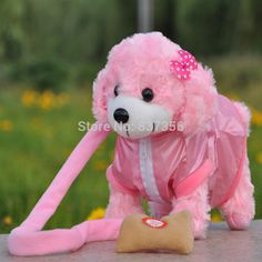 $33.58 - Awesome New Electronic Toys Dog Lovely Singing Walking Plush Dog Electronic Pets Children's Toys Birthday Gifts 7 Colors - Buy it Now!