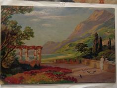 L. Kalff - Romantic school painting - oil on board - not framed - R.O. signed #LKalff