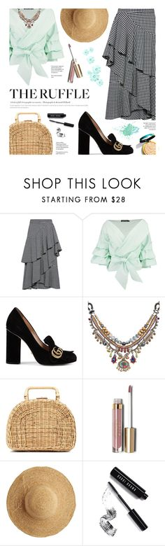 """The Ruffle"" by federica-m ❤ liked on Polyvore featuring Barneys New York, Marissa Webb, Boohoo, Gucci, Ayala Bar, Kayu, Stila, Flora Bella and Bobbi Brown Cosmetics"