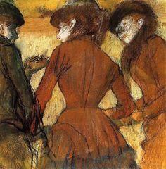 Three Women at the Races, Edgar Degas