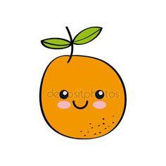 Resultado de imagem para frutas kawaii desenho
