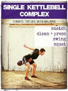 Kettlebell Complex - gonna try this today! Full Body Kettlebell Workout, Best Kettlebell Exercises, Best Core Workouts, Full Body Workout Routine, Kettlebell Circuit, Kettlebell Training, Workout Schedule, Fun Workouts, Morning Workouts