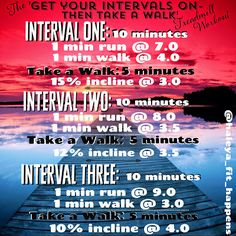 the 'Get your Intervals on- then take a walk' Treadmill Workout. Treadmill workout. https://instagram.com/haleya_fit_happens/
