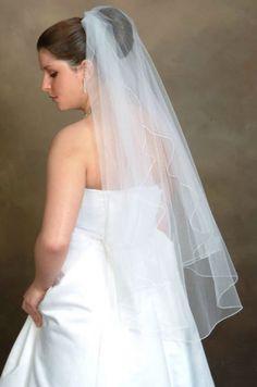 $40!!!!! White or ivory Aus site Simple wedding veil (sa-11)