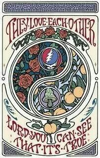 they love each other grateful dead - Yahoo Image Search Results Alphonse Mucha, Begonia, Grateful Dead Poster, Grateful Dead Quotes, Grateful Dead Tattoo, Image Foot, Rock Posters, Band Posters, Music Posters