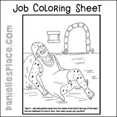 This free coloring page about Job will help children