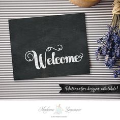 Printable Welcome sign wedding signs chalkboard by MadameLevasseur