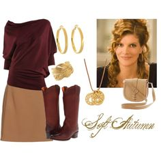 Soft Autumn by skipmylou on Polyvore featuring Max Studio, Carven, Frye, Banana Republic, Kate Spade, Linda Lee Johnson, Stella & Dot and Rene