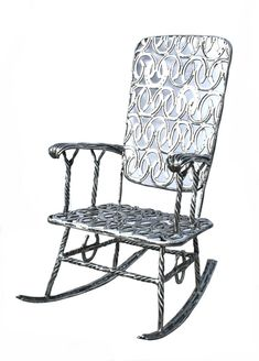 Horseshoe Rocking Chair - Solid Metal $2,995.00 Very Interesting!