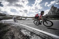 More awesome cycling photography. Mark Cavendish descends the Passo Giau during the Giro
