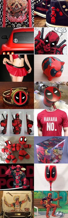 DEADPOOL The Merc With A Mouth by Jacquelyn on Etsy--Pinned with TreasuryPin.com