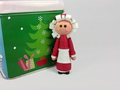 Mrs Claus Ornament Christmas Decor – Mrs Claus Christmas ornament, quilling Christmas, Christmas…