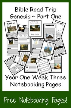 {Free Printable Notebook Pages} Bible Road Trip ~ Year One Week Three