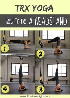 TRX headstand! Merge the exercises to get a totally different spin on your normal workout!
