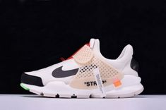 100% authentic 53e9e fba54 Newest Off-White x Nike La Nike Sock Dart White Black AA8696-101 Curry
