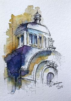 architecture watercolour aquarelle painting artwork inches urban paper city cm on Watercolour city artwork Urban architecture painting cm inches Aquarelle on papYou can find Aquarelle and more on our website Watercolor City, Watercolor Sketch, Watercolor Illustration, Watercolor Paintings, Watercolours, Watercolor Architecture, Urban Architecture, Architecture Drawing Art, Realistic Drawings