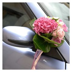 addobbi auto sposa con ortensia rosa - foto di matrimonio www.maisonstudio.it ©