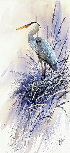 Herons Grace ~James Williamson ~watercolor~