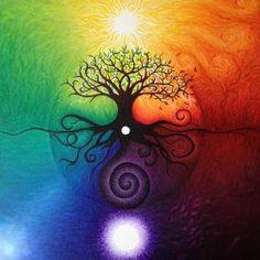 Devoured by the Comfort Zone album art by sarah benthall Arte Yin Yang, Arte Linear, Chakra Art, Chakra Painting, Spiritual Paintings, Mandala Meditation, Visionary Art, Psychedelic Art, Tree Art