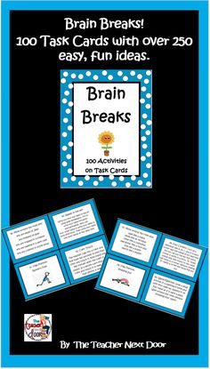 These 100 task cards have over 250 quick, easy, creative ideas to help your kids focus. Loaded with activities to help your kids gets their wiggles out and be better learners. $