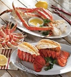 Lobster & crab legs... This is ALL I want right now