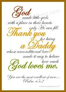 Daddy Poem for little girls and other Christian poems for gifts