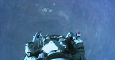 Inspired, wowed, awed every time I look at these pics Congrats to Felix Baumgartner and Red Bull Stratus Felix Baumgartner, Red Bull, Spinning, Jump Animation, Jumping Gif, Big Swimming Pools, Once In A Lifetime, Deep Space, Ideas