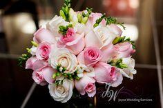 #Bouquet #rose #white #pink #ivory #freesia #wedding #bride