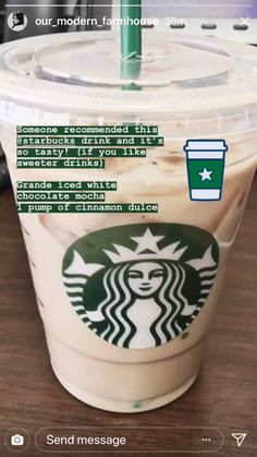 Starbucks Hacks, Starbucks Secret Menu Drinks, Starbucks Coffee, Bebidas Do Starbucks, Healthy Starbucks Drinks, Coffee Drink Recipes, Coffee Drinks, Iced Coffee, Fun Drinks
