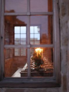 point of view from outside window candlelight layering of windows and reflections framing Noel Christmas, Country Christmas, Winter Christmas, Christmas Dinners, English Christmas, Christmas Windows, Christmas Feeling, Christmas Events, Christmas Candles