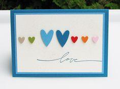 """Karte """"Blue Love"""" von Smilland auf DaWanda.com"""