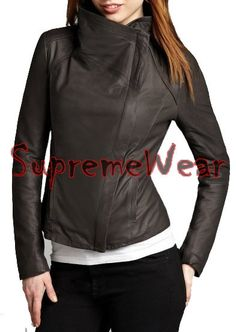 New Handmade Women Large Collar Superb Leather by SupremeWear, $159.00