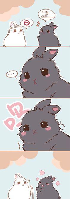 wei wuxian x lan wangji; grandmaster of demonic cultivation; Anime Chibi, Kawaii Anime, Anime Manga, Anime Art, Cute Drawings, Animal Drawings, Cute Chibi, Cute Bunny, Fujoshi