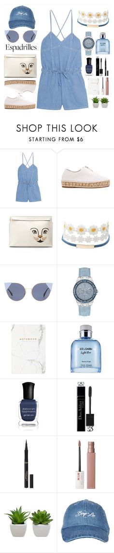 """Espadrilles (Top Set)"" by soranamikaze ❤ liked on Polyvore featuring Steve J & Yoni P, Alexander Wang, Loewe, Charlotte Russe, Fendi, GUESS, Dolce&Gabbana, Deborah Lippmann, Christian Dior and L'Oréal Paris"
