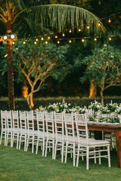 elegant jungle wedding reception in Bali   Image by Diktat Photography