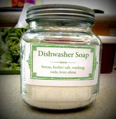 4 Pears: A Different Kind of Recipe - Dishwasher Soap/Detergent