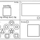 Little Shape Mini Book - Aligned with Prek-K Common Core, Super Simple Shapes - MamaVonVintage
