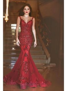 Elegant Cap Sleeve V Neck Beaded Lace Burgundy Mermaid Prom Dresses 2016 Court Train Long Evening Party Gowns Robe Prom Dresses 2016, Backless Prom Dresses, Tulle Prom Dress, Prom Party Dresses, Dress Up, Prom Gowns, Dress Wedding, Dress Long, Graduation Dresses