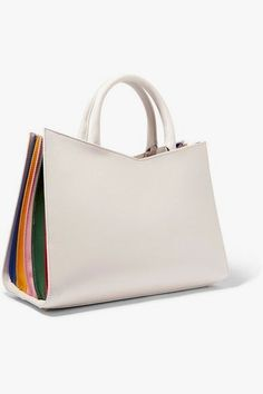 6f51b7956101 Sara Battaglia - Plisse Leather Tote - White - one size
