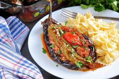Eggplant Recipes, Spaghetti, Food And Drink, Healthy Eating, Low Carb, Cooking Recipes, Vegetables, Ethnic Recipes, Food