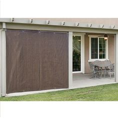 Alion Home Outdoor Sun Shade Privacy Panel with Grommets on 2 Sides for Patio, Awning, Window, Custom To Order (3' x 6', Mocha Brown) *** Want to know more, click on the image. (This is an affiliate link and I receive a commission for the sales)