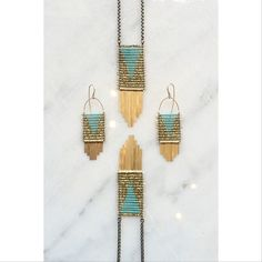Some new pieces that will be on the website soon.  #demimondejewelry #turquoiseandgold (at Demimonde Studio and Shop)