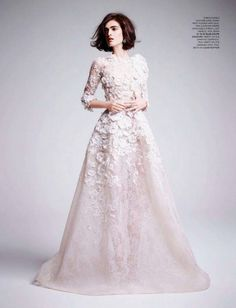 Viewers Choice: 2013 Most Liked ELIE SAAB Editorial Anouk Hagemeijer in ELIE SAAB Haute Couture Spring Summer 2013 shot by Kate Davis-Macleod and styled by Deep Kailey for the June issue of Tatler UK.