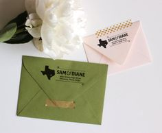 Custom Return Address Stamp  Texas Y'all by GoldFoxPaper on Etsy, $65.00