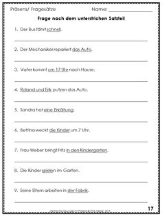 These German worksheets can be used to practice, to review or to test German affirmative, negative and interrogative sentences in Präsens. This set has 33 worksheets plus answer keys. Download the preview for more information.