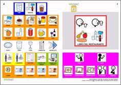 MATERIALES - Libros de Comunicación Aumentativa y Alternativa: Libro del restaurante. http://arasaac.org/materiales.php?id_material=553